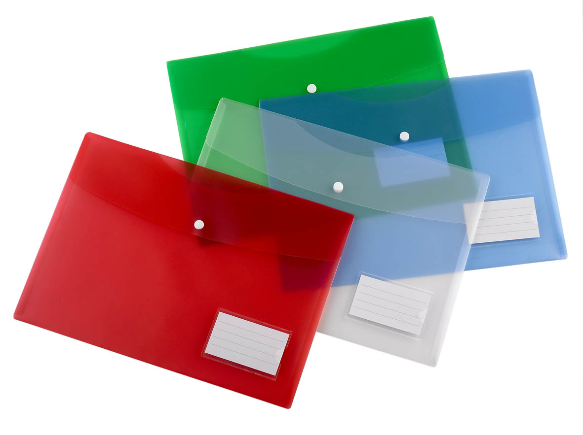 5.Clear Plastic PP Envelope Folders MFO 021—